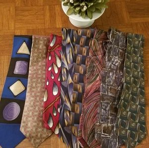Other - Bundle of 8 Graphic Silk Ties
